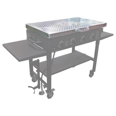 Diamond Plated Aluminum Grill Cover | Fits Blackstone Griddle