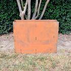 "30"" Tall Corten Steel Planter Box"