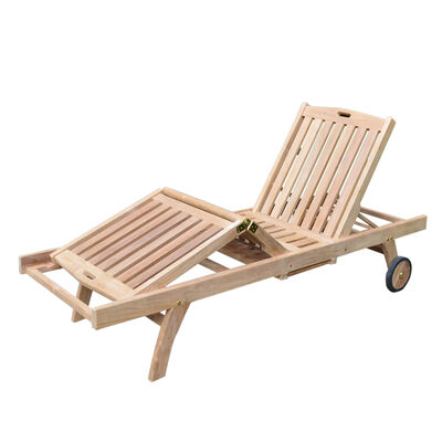 Teak Reclining Lounger
