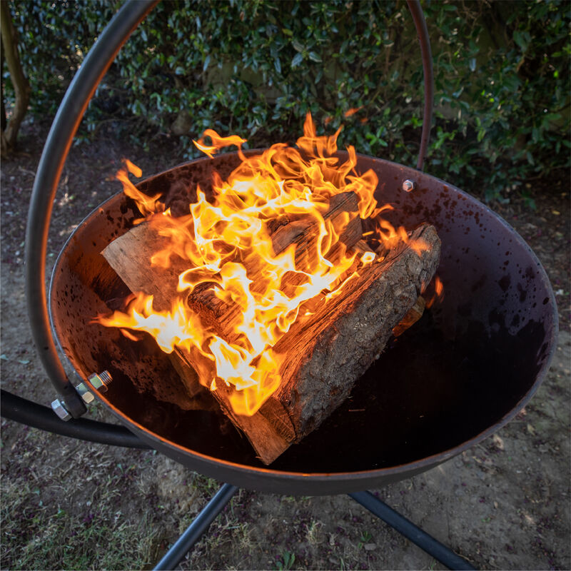 30-in Cauldron Fire Pit Bowl With Grate And Stand