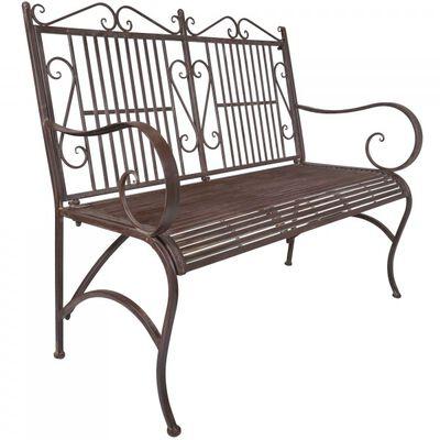 Rustic Metal Bench