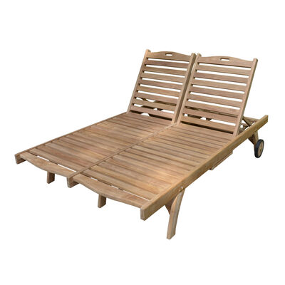 Teak Double Sun Lounger