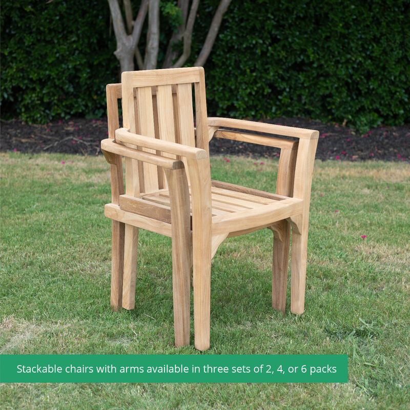 Grade A Teak Classic Stacking Chairs