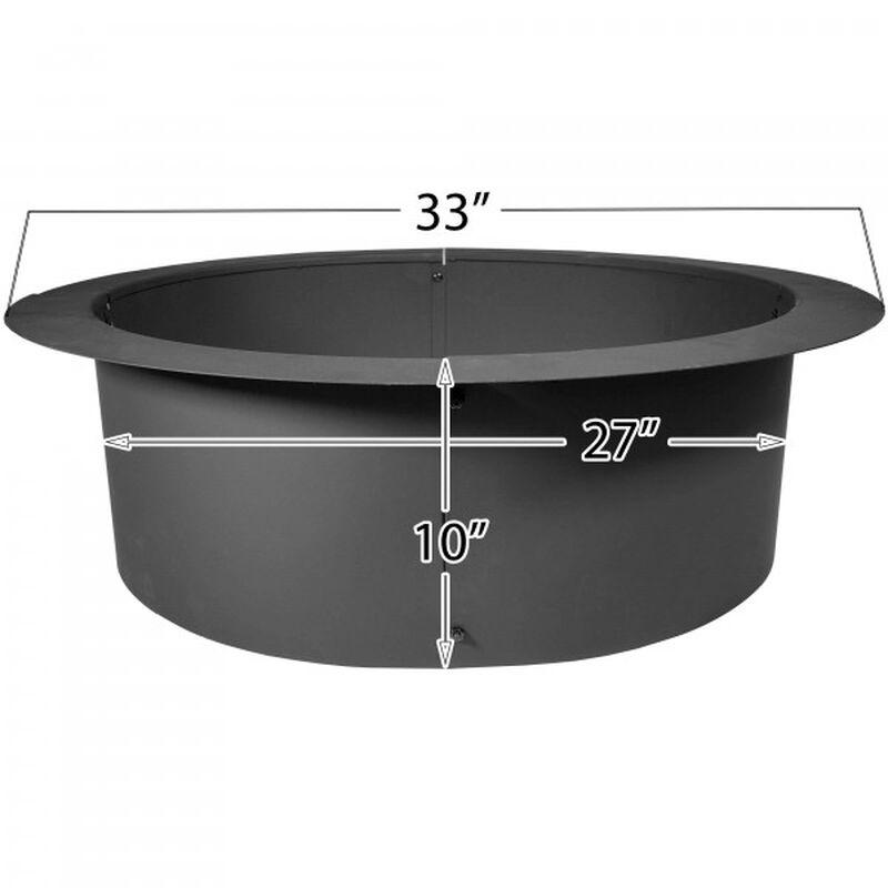"""33"""" Diameter Steel Fire Pit Liner"""