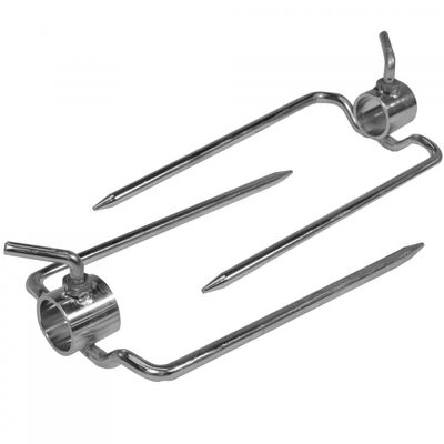 "Scratch and Dent - Pair of Rotisserie Forks for 1"" Round Spit Rod - FINAL SALE"