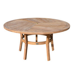 Teak Round Dining Table   59-in