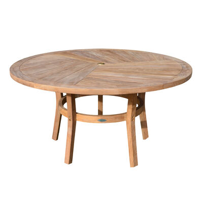 Teak Round Dining Table | 59-in