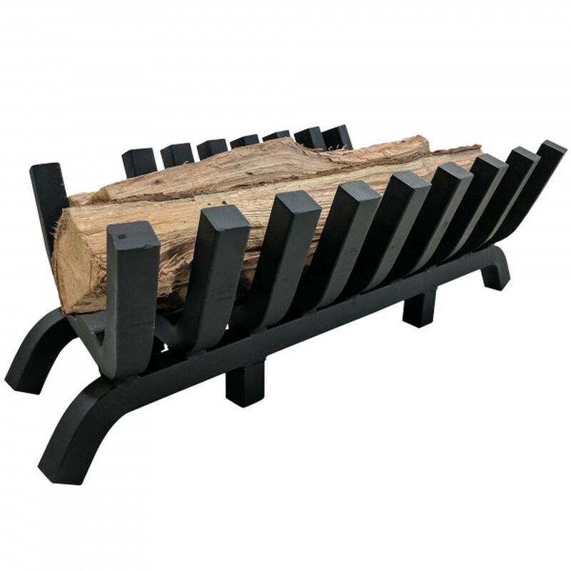 """30"""" 1.25"""" Solid Steel Fireplace Grate"""