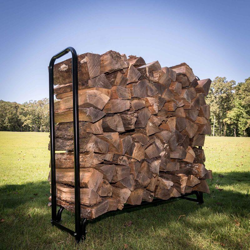 4' Firewood Wood Log Rack Storage Holder