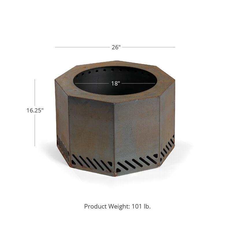 Corten Steel Dual Flame Smokeless Fire Pit