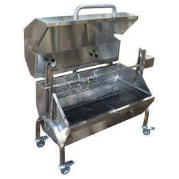 35W Stainless Steel Rotisserie Grill Roaster with Glass Hood