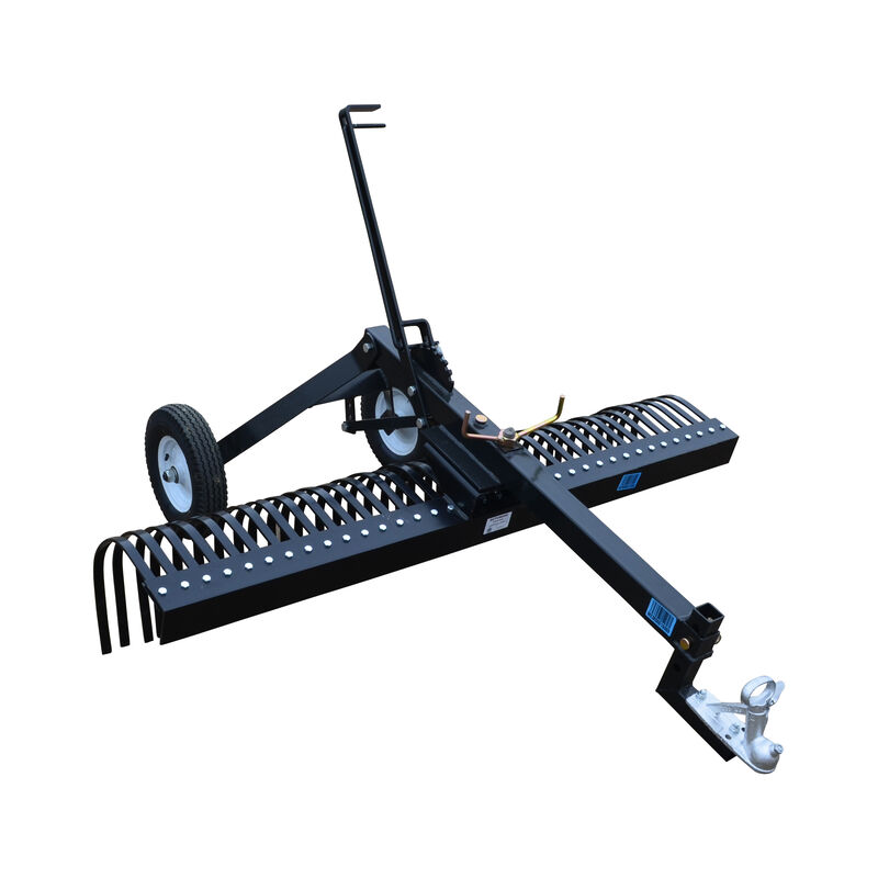 6 FT ATV Transformer Tow Frame With Landscape Rake Attachment