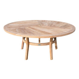 """Grade A Teak 71"""" Round Dining Table"""