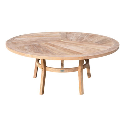 Teak Round Dining Table | 71-in