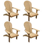 Set of 4 Teak Adirondack Chair