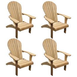 Grade A Teak 4 Pack Adirondack Chair