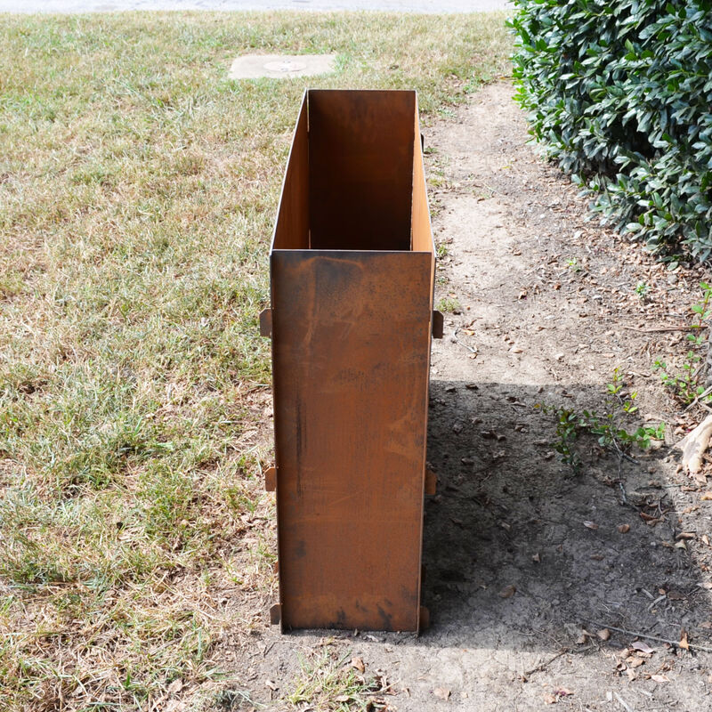 Titan Great Outdoors 39 1 2 X 10 Corten Steel Planter Box