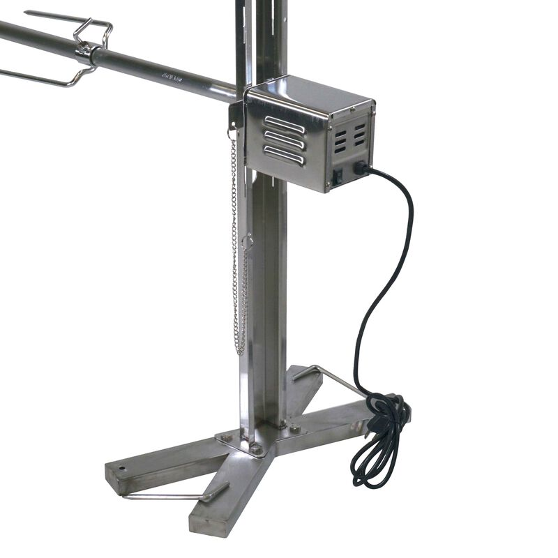 Stainless Steel 90 lb Capacity Open Fire Rotisserie System Tripod
