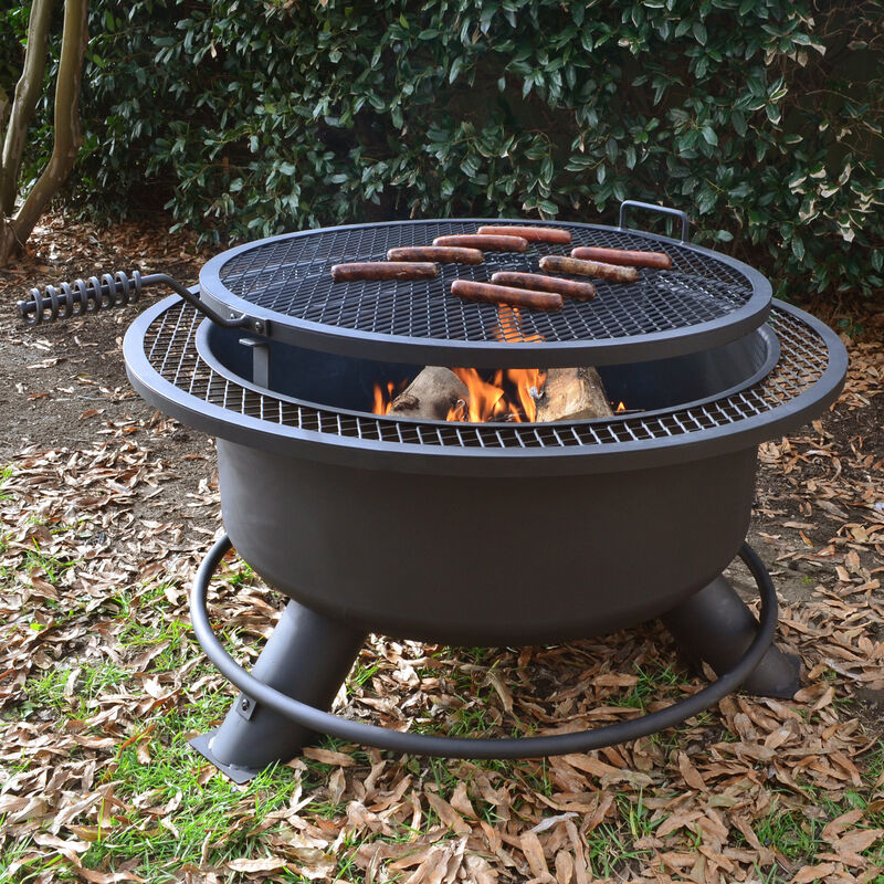 "38"" Fire Pit with Swivel Grill"