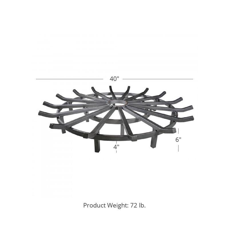 40-in Wagon Wheel Fire Grate