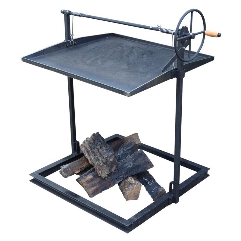 Campfire Asado   Open Flame Adjustable Cooking