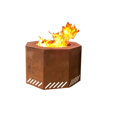 Corten Steel Low Smoke Fire Pit Optional Lid