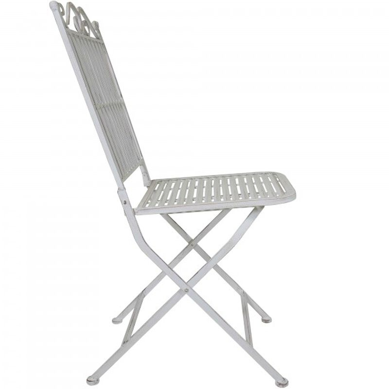 Pair of Metal Folding Chairs - White