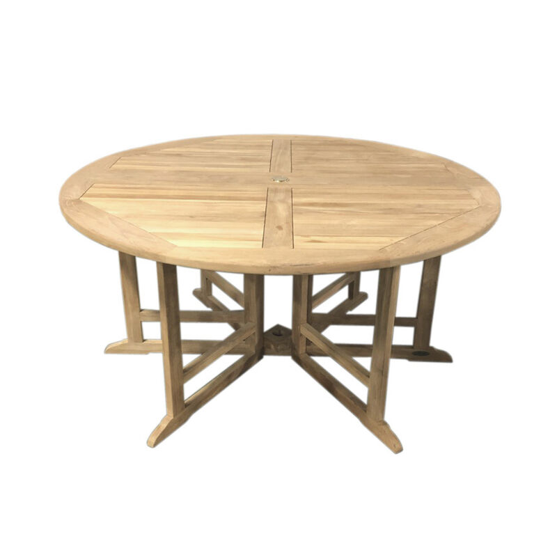 "Grade A Teak 59"" Round Folding Table"