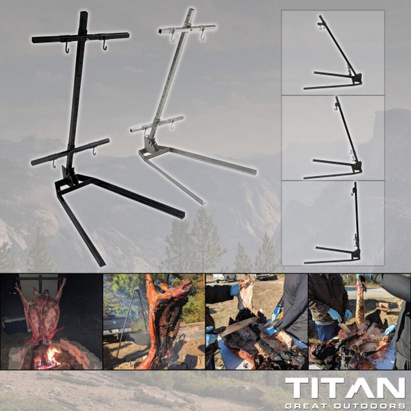 Asado Cross with Adjustable Base Stainless Steel