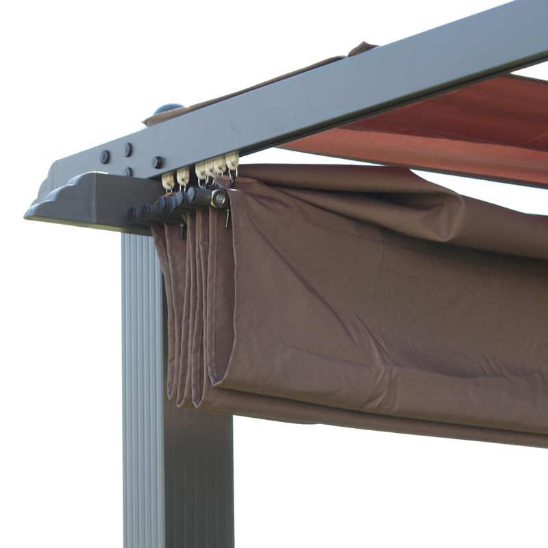 Pergola, Sun Shade, Canopy for Outdoors, Patio and Lawn Decor, 10' x 10'