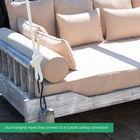Grade A Teak Montana Queen Rope Porch Swing Bed