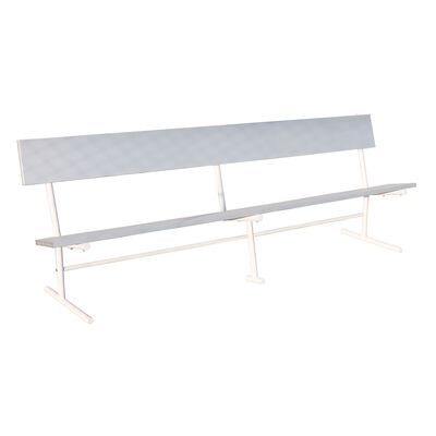 Aluminum Bench with Back | 9'
