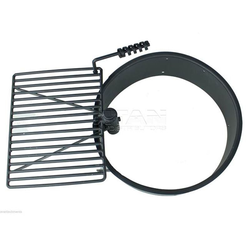 "24"" Steel Fire Ring with Cooking Grate"