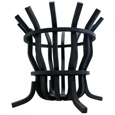 "1"" Solid Steel Self-Feeding Fire Pit Basket"