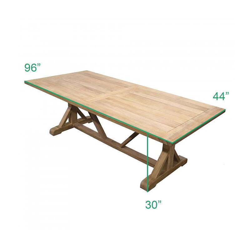 Scratch and Dent - 8 FT Teak Farmhouse Trestle Table - FINAL SALE