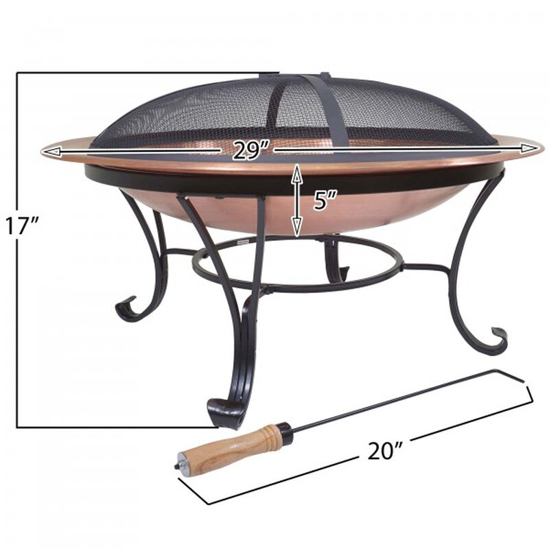 """29"""" Copper Outdoor Fire Pit"""