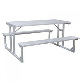 Titan Aluminum Picnic Table, Patio and Deck Furniture, Outdoor Lawn Decor | 5' or 8'