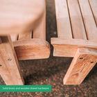 Teak Adirondack Chair with Ottoman
