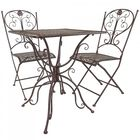 Rustic Metal Bistro Table & Chair Set