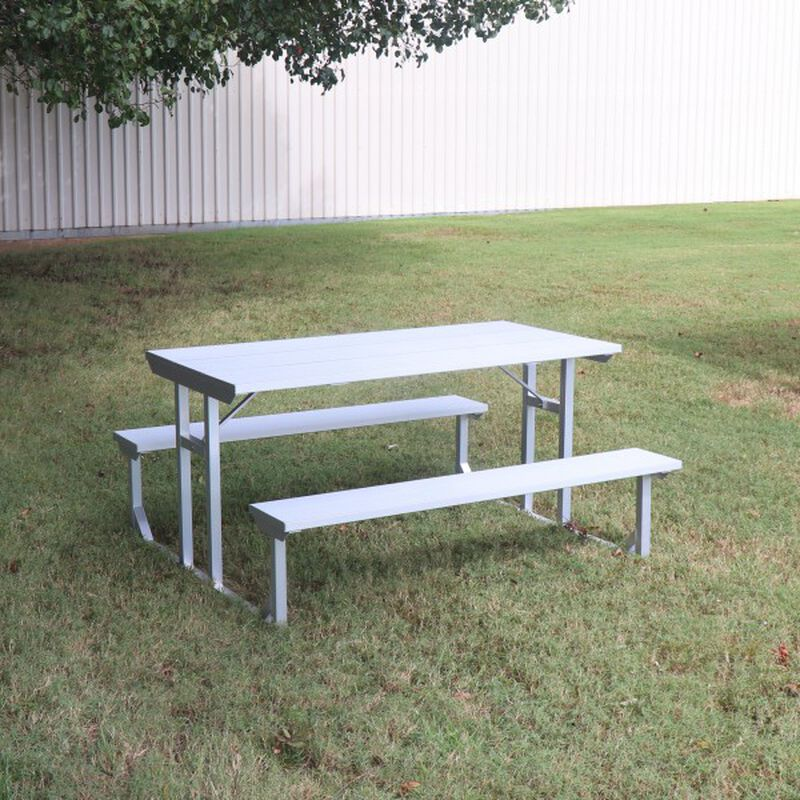 Titan Aluminum Picnic Table, Patio and Deck Furniture, Outdoor Lawn Decor | 5' or 8'