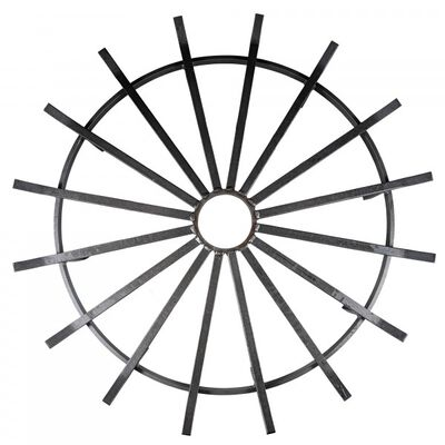 "28"" Wagon Wheel Fire Grate"