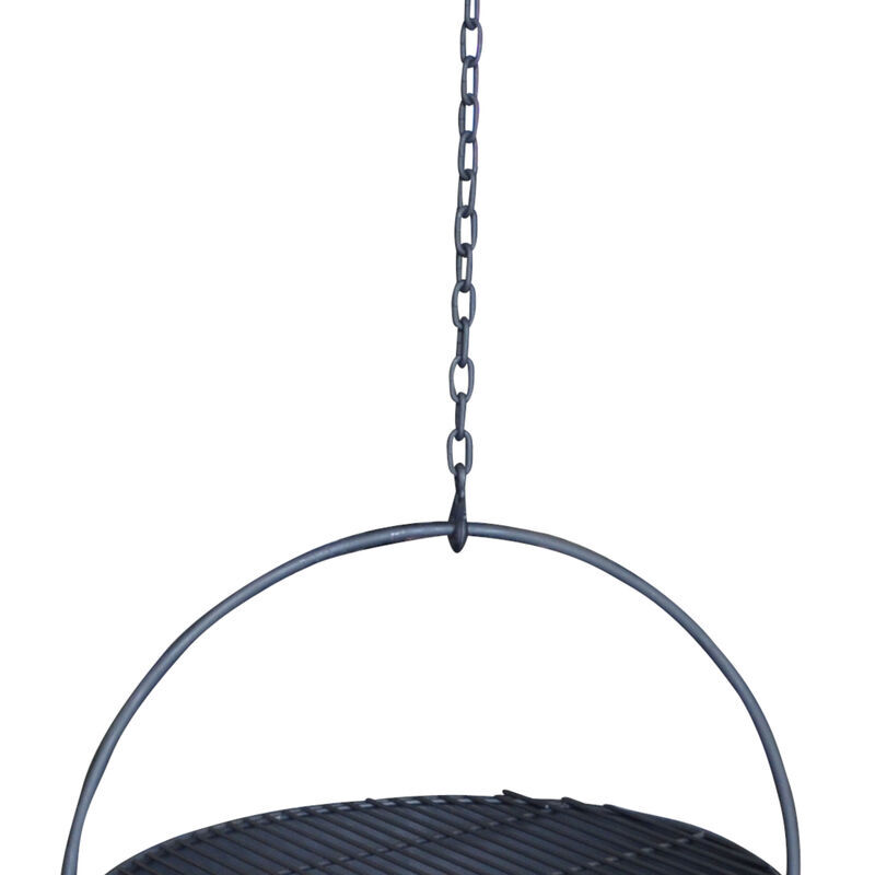 30-in Cauldron Fire Pit Bowl With Grate And Chain