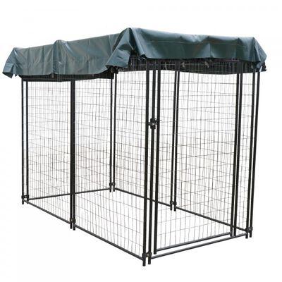4' x 8' Modular Dog Kennel w/ Sun Shade