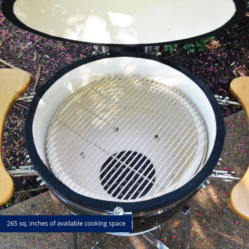 18-in Kamado Ceramic Charcoal Grill