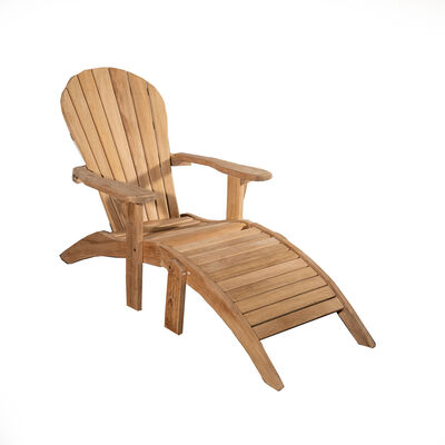 Grade A Teak Adirondack Chair with Footstool