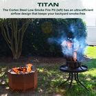 Corten Steel Low Smoke Fire Pit