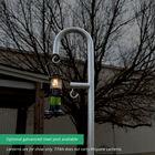 9 FT Powder-Coated Steel Shepherds Hook Lantern Post