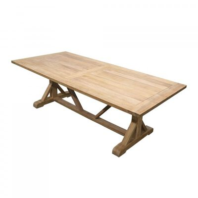 Teak Farmhouse Trestle Table | 8'