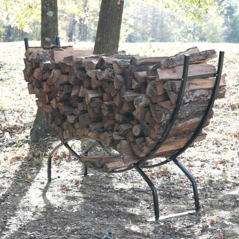 8' Crescent Firewood Rack