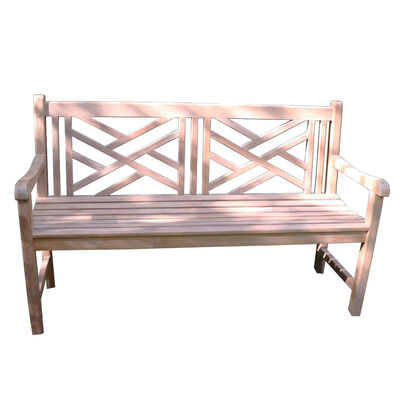 Teak Cross Bench | 59-in